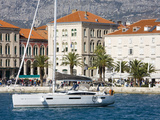 Yacht in Split Harbour  Dalmatian Coast  Croatia  Europe