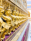 Guardian Statues at Temple of Emerald Buddha (Wat Phra Kaew)  Grand Palace  Bangkok  Thailand