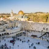 Jewish Quarter of the Western Wall Plaza  Old City  UNESCO World Heritage Site  Jerusalem  Israel