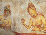 Ancient Frescoes  Sigiriya  UNESCO World Heritage Site  North Central Province  Sri Lanka  Asia