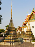 Colourful Stupa at Temple of the Reclining Buddha (Wat Pho)  Bangkok  Thailand  Southeast Asia