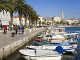 Fishing Boats on the Waterfront  Split  Dalmatian Coast  Croatia  Europe