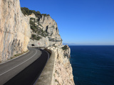 Road Along Mediterranean Sea  Savona  Italy  Europe