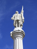 Christopher Columbus Statue  Plaza Colon  Old San Juan  San Juan  Puerto Rico  West Indies  USA