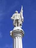 Christopher Columbus Statue  Plaza Colon  Old San Juan  San Juan  Puerto Rico  West Indies  USA