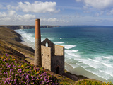 Ruins of Wheal Coates Tin Mine Engine House  Near St Agnes  Cornwall  England