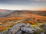 Looking Towards Honeybag Tor in Dartmoor National Park  Devon  England  United Kingdom  Europe