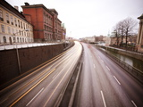 View over Highway Through Gamla Stan  Stockholm  Sweden  Scandinavia  Europe