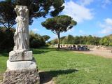 Statue  Ostia Antica  Rome  Lazio  Italy  Europe