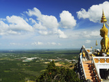 View from Top of Tiger Cave Temple (Wat Tham Suea)  Krabi Province  Thailand  Southeast Asia  Asia