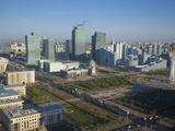 City Center  Street of New Governmental and Administrative Zone and Bayterek Tower  Kazakhstan