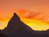 Matterhorn  Zermatt  Canton Valais  Swiss Alps  Switzerland  Europe