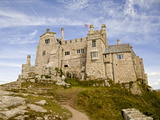 St Michael's Mount Castle Viewed Close Up  Cornwall  England  UK  Europe