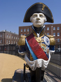 Ship Figurehead of Admiral Nelson  Portsmouth Historic Docks  Portsmouth  Hampshire  England  UK