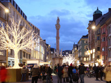 Christmas Tree at Dusk  Innsbruck  Tyrol  Austria  Europe