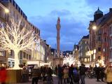 Christmas Tree at Dusk  Innsbruck  Tyrol  Austria  Europe