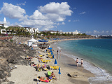 Beach View  Playa Blanca  Lanzarote  Canary Islands  Spain  Atlantic  Europe
