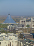 City Center  Towards Kazmunaigas Building  and Khan Shatyr Entertainment Center  Astana  Kazakhstan