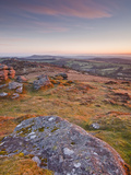 The View from Chinkwell Tor in Dartmoor National Park  Devon  England  United Kingdom  Europe