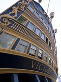 Admiral Nelson's Ship  Hms Victory  Portsmouth Historic Docks  Portsmouth  Hampshire  England  UK
