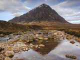 Buachaille Etive Mor and the River Coupall  Glen Etive  Rannoch Moor  Western Highlands  Scotland