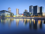 Dawn at Mediacity Uk Home of the Bbc  Salford Quays  Manchester  Greater Manchester  England  UK