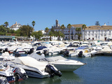 Marina and Old Town  Faro  Algarve  Portugal  Europe