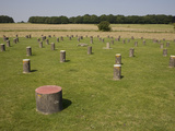 Woodhenge  Concrete Posts Now Stand Where Wooden Posts Did  Amesbury  Wiltshire  England  UK