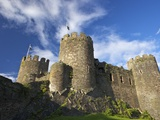 Conwy Medieval Castle in Summer  UNESCO World Heritage Site  Gwynedd  North Wales  UK  Europe