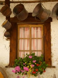 Shuttered Windows and Flowers  Corvara  Badia Valley  Trentino-Alto Adige/South Tyrol  Italy