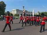 Grenadier Guards March to Wellington Barracks after Changing the Guard Ceremony  London  England