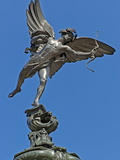 Winged Statue of Eros  Shaftesbury Memorial  Piccadilly Circus  London  England