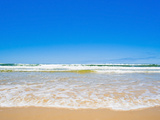 Sand Sea and Sky of Seventy Five Mile Beach  Fraser Island  UNESCO World Heritage Site  Australia