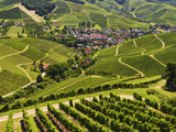 View of Vineyards and Durbach Village  Ortenau  Baden-Wurttemberg  Germany  Europe