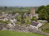 Hartington Village and Church  Peak District  Derbyshire  England  United Kingdom  Europe