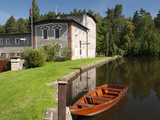 Skaly Mill with Pond and Boat  Slatinany  Pardubicko  Czech Republic  Europe