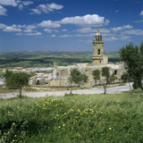 View over Santa Maria La Coronada Church and Old Town  Medina Sidonia  Andalucia  Spain  Europe