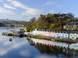 Looking Down at the Harbour of Portree  Isle of Skye  Inner Hebrides  Scotland
