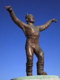 Memorial of a Wrestler in Muron  Mongolia  Central Asia  Asia