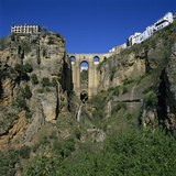 Old Town and Puente Nuevo  Ronda  Andalucia  Spain  Europe