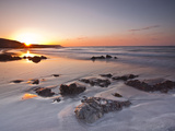 Dawn on Kennack Sands on the Lizard Peninsula in Cornwall  England  United Kingdom  Europe