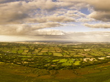 View from the Top of Black Hill (Crib Y Garth) Looking East over Herefordshire  England  UK  Europe