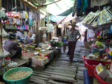 Khan Beth Daily Market on the Waterway  Irrawaddy Delta  Myanmar (Burma)  Asia