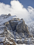 Craggy Mountains with Snow Cover  Jasper Nat'l Park  UNESCO World Heritage Site  Alberta  Canada