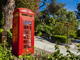 Red Telephone Box  Alameda Gardens  Gibraltar  Europe
