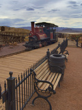Old Train in a Ghost Town  Calico  Yermo  Mojave Desert  California  USA  North America