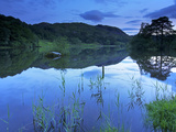 Sunset  Rydal Water  Lake District National Park  Cumbria  England  United Kingdom  Europe
