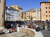 Pantheon and Piazza della Rotonda  Rome  Lazio  Italy  Europe