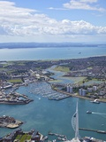 Spinnaker Tower and Gunwharf Quays  Portsmouth  Looking Towards Solent and Isle of Wight  England