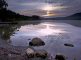 Sunrise  Derwent Water  Lake District National Park  Cumbria  England  United Kingdom  Europe